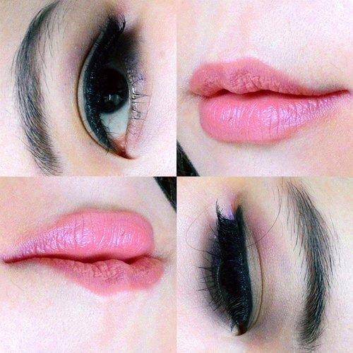 The deets of the eyes and lip:Eyebrow: Bark & Noir from Sleek Au Naturel PaletteEyeshadow: Capucinno on the lid, Regal on the crease, Nougat for browbone area, also from Sleek Au NaturelEyeliner: upper with Pixy Eyeliner Pencil in Black and lower line with Maybelline Colorshow Liner in Metallic Purple.For false lashes, I stacked Tinkerbell and Fairy Dust from @rtsybeauty_id. Lip: Caring Colours Lipstick in Brown Sugar mixed with Fanbo Lipstick 13#clozetteid #makeup #eotd #lotd