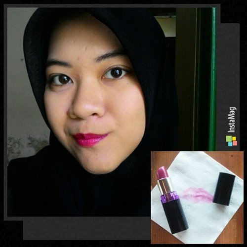 Finally I made it to the last lipstick! Woohoo! 💃 Maybelline Colorshow Lipstick in Plum Perfect. Kinda expect the Lorde color but a girl can only dream, it's not dark enough 😩 But this baby is soooo creamy, moisturizing, no shimmer, and stains real bad! #day22 #1day1lipstick #lipstickchallenge #clozettedaily #clozetteid