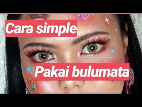 Cara Simple Pakai Bulumata Palsu - YouTube