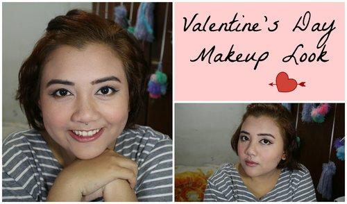 SIMPLE VALENTINE DAY MAKEUP LOOK | anjanidee - YouTube