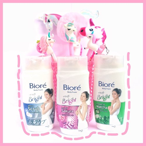 New product alert! Biore Body Foam Bright