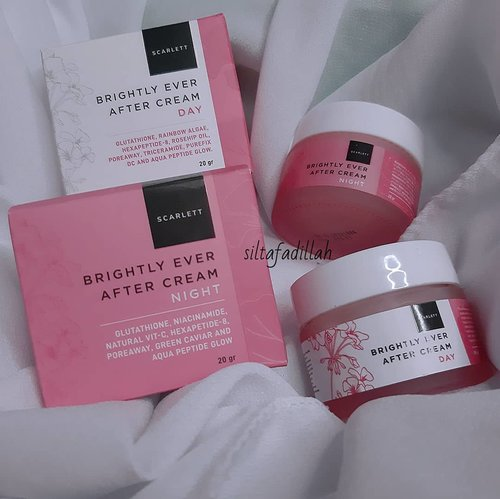 Ada Review @scarlett_whitening Cream Day & Ningt Scarlett Whitening Brightly Ever After Cream nih di www.beautysill.com 🥰Wajah lebih terlihat sehat dan merah merona setelah pemakaian 12 hari aja dan sisa bekas jerawat mulai memudar 😍Yuk cek full reviewnya klik link di BIO aku 🤗🌼#ClozetteID #beautysillcom #indonesiabeautyblogger #beautybloggerindonesia #palembangbeautyblogger #PlgBeautyBlogger #scarlettwhiteningskincare #scarlettwhitening #brightlyeverafterserum #creamday #creamnight  #reviewsilta