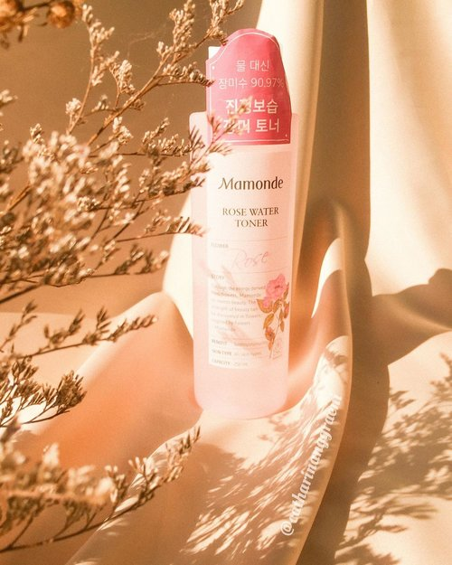 #sundayreview, from a toner that I've been eyeing for some quite some time. It's a 𝐑𝐨𝐬𝐞 𝗪𝐚𝐭𝐞𝐫 𝐓𝐨𝐧𝐞𝐫 from @mamonde_id . I've gone read all the good reviews about this toner and hold myself for not opening it after purchase, since I still have many of opened toners on my shelf back that time.This toner contains 90.97% of rose water wherein they use damask rose that hand-picked from the rose valley of Bulgaria. Rose water itself has many benefit to the skin such as balancing the skin's pH, moisturizing and it also has soothing effect to irritated skin. The other noticeable ingredient is Lactic Acid and it seems in low percentage as it's listed on the two last ingredients. It has clean watery texture with super light consistency. There are multiple ways in using this toner and I like to use this toner in the morning after washing my face as the preparation of my skin for the next routine. I simply pour some drops to my palm and pat all over my face until it absorbs. Sometimes I also use this as hydrating toner, but for my dry-dehydrated skin I need 4 layers or even more to finally feel moisture on my skin. Because of its consistency, it doesn't feel heavy eventhough I put layers on my skin. And last, due to the astringent properties it has, I also use this as cleansing toner at night to ensure there's no leftover impurities after double cleansing.I like how the rose scent is smell every time I open the cap, not that too aggressive. I heard the smell of rose can make us feeling so relaxed and sleep better. Mamonde also made this toner to be free from mineral oil, silicone oil and raw animal material.Mamonde has 5 variants of flower toner. Have you tried one of them?#cathyangreview #clozetteid #mamondeid