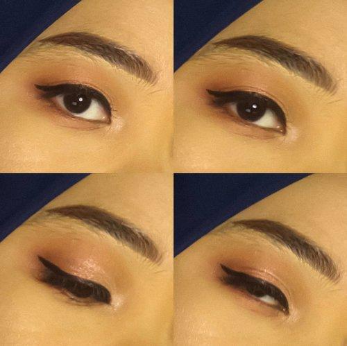 Bikin eyeliner ketebelan bikin bulu mata ga keliatan. Gapapa. Aku quadh.  Btw ada rekomendasi eyeshadow warna warni yang kualitasnya mirip-mirip inez gaaa? Plis kalo tau komen. Bantu aku biar belajar pake esedo hahahihi  #Clozetteid #makeup #bandungbeautyblogger #beautiesquad