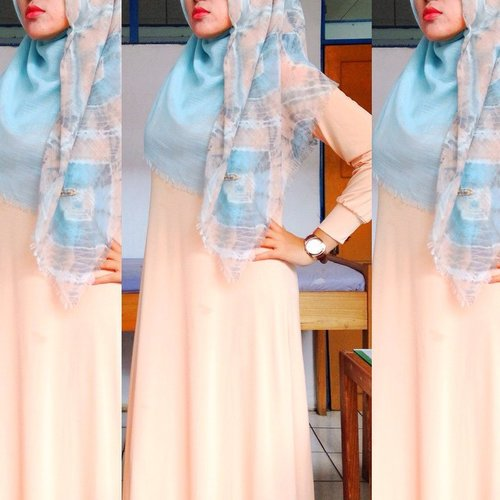 #ootd #outfitoftheday #wiwt #whatiworetoday #workingoutfit #lookoftheday #lookbook #lookbookNU #hijabers #hijabi #hijabstyle #hijabfashion #moslemfashion #pastel #potd #ClozetteID