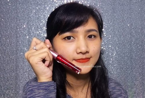 Etude House Dear Darling Tint 03 ( Orange Red ) 👍  Shop : @gratefulbeautyshop  #clozetteid #liptint #deardarlingtint #favorite #makeup