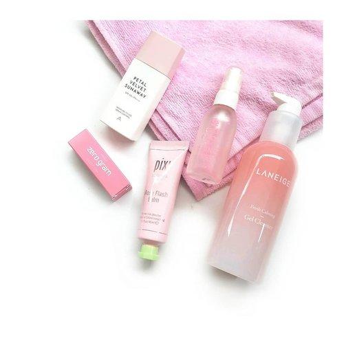 I know it's late to post for#PinkWednesday ...Products in pink colored packaging I use yesterday :#laneige Fresh Calming Gel Cleanser#pixibeauty Rose Flash Balm#altheakorea Petal Velvet Sunaway#keepcool Shine Mist#romand Zerogram - Dusty Pink -------✨✨✨✨✨✨✨#abskincare #abcommunity #skincareflatlay #kbeautyblog #beautycommunity #abbeatthealgorithm #clozetteid #discoverunder5k #kbeautyunicorns #rasianbeauty #altheaangels