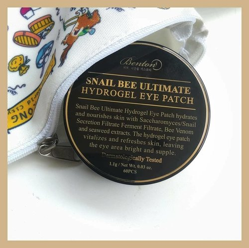 "<div class=""photoCaption"">🐌 Benton Snail Bee Ultimate Hydrogel Eye Patch 📝 RATING: 4/5--▶️Comes in a luxurious looking jar. The spatula is included, with separator inside it is super secure as long you close it properly▶️The eye patches are soaked in essence and I don't detect any scent▶️The Hydrogel patches are glittery with black-greenish color, it slippery but once I stick it on my skin it adheres firmly▶️On the packaging, it stated to only wore 10 to 20 minutes but mostly I use it more than time recommendation because I like how this feels so cooling 😅▶️The result is instant but only for temporary, I see these eye patches brightened under eyes and de-puff my eye bag even it's not last for a day but at least in the morning, I don't look lack of sleep, thanks to this!--PS: Not only under eye area, but you can also apply this in smile line or use this as a face mist. To use as face most, mix water and add some patches then wait until the patches completely dissolved 😉 --Gifted by Benton for review purpose-- ✨✨✨✨✨✨✨ <a class=""pink-url"" target=""_blank"" href=""http://m.clozette.co.id/search/query?term=clozetteid&siteseach=Submit"">#clozetteid</a>  <a class=""pink-url"" target=""_blank"" href=""http://m.clozette.co.id/search/query?term=bentoncosmetic&siteseach=Submit"">#bentoncosmetic</a>  <a class=""pink-url"" target=""_blank"" href=""http://m.clozette.co.id/search/query?term=indirads&siteseach=Submit"">#indirads</a>  <a class=""pink-url"" target=""_blank"" href=""http://m.clozette.co.id/search/query?term=bentonsnailbeeultimatehydrogeleyepatch&siteseach=Submit"">#bentonsnailbeeultimatehydrogeleyepatch</a>  <a class=""pink-url"" target=""_blank"" href=""http://m.clozette.co.id/search/query?term=kbeautyunicorns&siteseach=Submit"">#kbeautyunicorns</a>  <a class=""pink-url"" target=""_blank"" href=""http://m.clozette.co.id/search/query?term=koreanskincare&siteseach=Submit"">#koreanskincare</a>  <a class=""pink-url"" target=""_blank"" href=""http://m.clozette.co.id/search/query?term=abbeatthealgorithm&siteseach=Submit"">#abbeatthealgorithm</a>  <a class=""pink-url"" target=""_blank"" href=""http://m.clozette.co.id/search/query?term=discoverunder5k&siteseach=Submit"">#discoverunder5k</a></div>"
