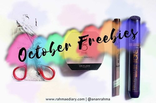 colorful... ini freebies aka hadiah aka gratisan. seneng? banget. cek di sini http://www.rahmaediary.com/2016/10/the-one-oriflame-mini-review.html #clozetteID #makeup #oriflame #theoneoriflame