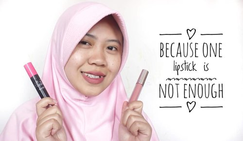 One lipstick? What? 🤔 That's not me. . . So this is my favourite lip color for daily activities. Brand is not a matter, the color is. Wear the nude all over your lips and the bold in the centre. . . .  #clozetteid #makeup #lipstick #natural #nude #nudelipstick #wardah #lipcreamwardah #pixy #lipcreampixy #lipcreammatte