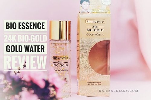 Produk anti-aging dari @bioessenceid . Jangan nunggu tua baru care sama kulit. Riweuh 🤣 I've learnt it from my grandma. Get healthy skin now. Find the review on my blog www.rahmaediary.com or just click the link on my bio 🙏 #clozetteid #skincare #gold #showyourglowingskin #bioessenceid  #bioessence