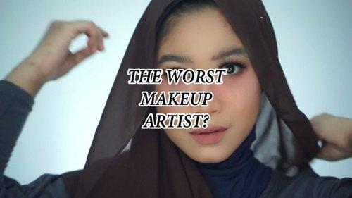 """Akhir-akhir ini buanyak yang bikin video """"The Worst MUA"""" di kota masing-masing.Ngobrol-ngobrol bareng yuk tentang ini di youtube channel aku (Youtube: Hai Ariani)Atau kamu bisa klik link nya di bio aku.Produk-produk yang aku pakai lengkap di youtube aku ya. 😆#clozetteid #makeuptutorial #makeup #softsmokey #softsmokeyeye #lakme"""