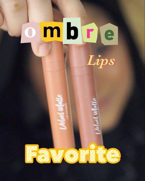 Begitu kenal sama dua shades lip cream ini, langsung jadi pasangan lip cream Buat ombre favorite aku banget 😆 #clozetteid #ombrelips #ombrelipstutorial #tutorialombrelips