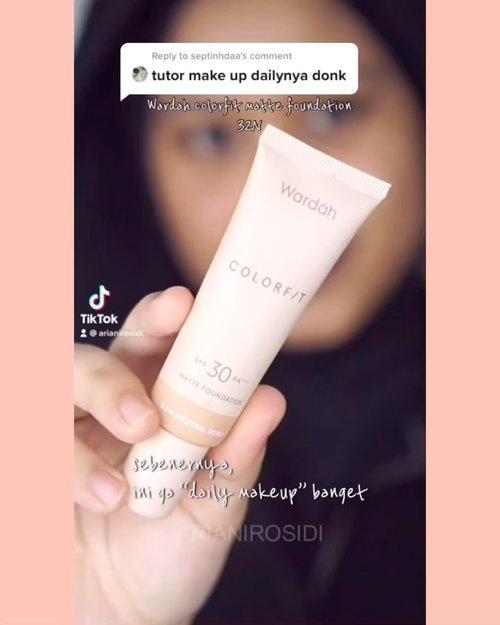 Comfort zone makeup aku.. hahaha.. #clozetteid #makeuptutorial #makeupnatural #simplemakeup #simplemakeuptutorial #simplemakeuplook