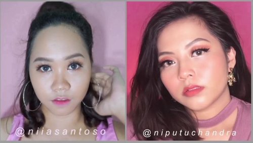 AKHIRNYA DIPUTUSIN SIWON!! 😂😂Siapa yang punya imajinasi yang engga banget kek aku hayo? 👏🤔••By the way here is GLASS SKIN MAKEUP LOOK collaboration with the one and only @niputuchandra ❤••Please check out her page (@niputuchandra ) to watch another version of this video, and the secret of her mixing foundation to get her glowing flawless makeup lookI'm so excited because this is my first collaboration video ever!! I hope you guys enjoy this video as much as I enjoy it 😭❤•••Products used for Niia :🍂@pixycosmetics Radiant Finish Spotcare Beauty🍂@maybelline Super Stay Foundation🍂@wardahbeauty luminous liquid foundation🍂@sleekmakeup solstice highlighter🍂@nyxcosmetics_indonesia setting spray🍂@pac_mt New Contouring Kit (Contour & Blush on)🍂@qlcosmetic eyebrow cream🍂@beautycreations.cosmetic  Tease Me Eyeshadow🍂@nyxcosmetics_indonesia eye & eyebrow pencil black🍂@purbasarimakeupid lip cream shade Vinca & Freesia•••••••#indobeautyvlogger #indobeautygram #makeupvideo #tampilcantik #ivgbeauty #wakeupandmakeup #hudabeauty #clozetteid #amabiebeauty  #youtubersemarang #bvloggerindonesia #setterspace @indobeautygram @tampilcantik @indobeautysquad @beautiesquad @bunnyneedsmakeup @wakeupandmakeup @hudabeauty @youtubersemarang @ivgbeauty @glamourvids @bvlogger.id @beautybloggerindonesia @setterspace @beautychannel.id