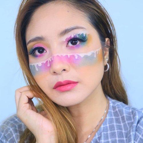Dripping 🌈 😍.#fdbeauty #clozetteid #universalhairandmakeup #uhmvideo #ivgbeauty #makeupclips #fiercesociety #tampilcantik #wakeupandmakeup #makeuptips #indobeautygram #makeupaddict #amazingmakeupart #lucinda212 #undiscovered_muas #indovidgram #makeupvideo #lagirlindonesia #discover_muas #beautyguruindonesia #beautygram #beautybloggerindonesia #muablora #eotd #discovervideos #nyxcosmeticsid #maccosmetics #glammakeup #morphe