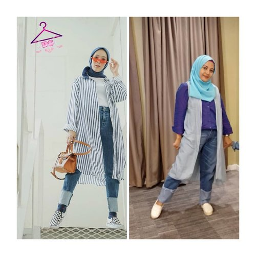 fashion is what you buystyle is what you do with it, and it's doesn't take a Million dollar wardrobe to have your own style 💚💙 Ada yang tau saya lagi kepoin style nya siapa ini.. ? Pokoknya fashion dia kece banget, mamah milenial gituu,.mirip kyk saya.. anak nya dua.. 🤩 Wkwkwkw yg sama cm jumlah anak nya doang .. lainnya udah beda jauh keren dia kemana -mana  #DSstealtheirlook #cute #hijabers #girl #shopping #girls #shoes #jewlery #instagood #hair #me #beauty #nails #purse #instafashion #girly #heels #dress #fashion #SMC_happysat  #ClozetteID