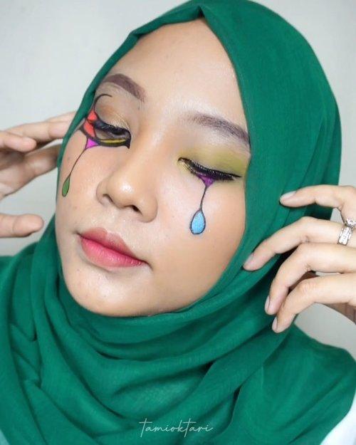 🔫 .Inspired by @deemakeupart @jharnabhagwani.#pistolchallenge #tiktokdance #tiktokindonesia #makeupart #facepainting #facepaint #undiscoveredmuas #100daysofmakeup #ClozetteID