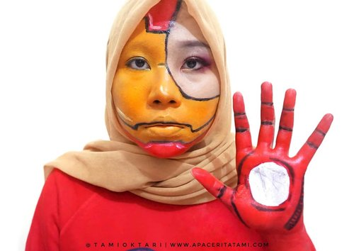 #MakeupLookbyTami kali ini edisi Superhero yaitu Iron Man Makeup🤖 Kangen juga nih bikin face painting gini💕.Beberapa produk dari @pac_mt yang aku gunakan👇@pac_mt Satin Lipcream shade Silk Cherry@pac_mt District X Single Eyeshadow - L.Night@pac_mt Intense Color Eyeshadow Pencil-Glamour Black.#PACMarthaTilaar #xPACtation #PACSuperheroChallenge.#Beautiesquad #BeautygoersID #kbbvfeatured #beautybloggerindonesia #pkubeautyblogger #bloggerceria #JBBFeatured #beautysecretsquad #indonesiabeautyblogger #HijabersBeautyBVlogger #bloggirlsid #setterspace #bloggerperempuan #bloggermafia #clozetteid