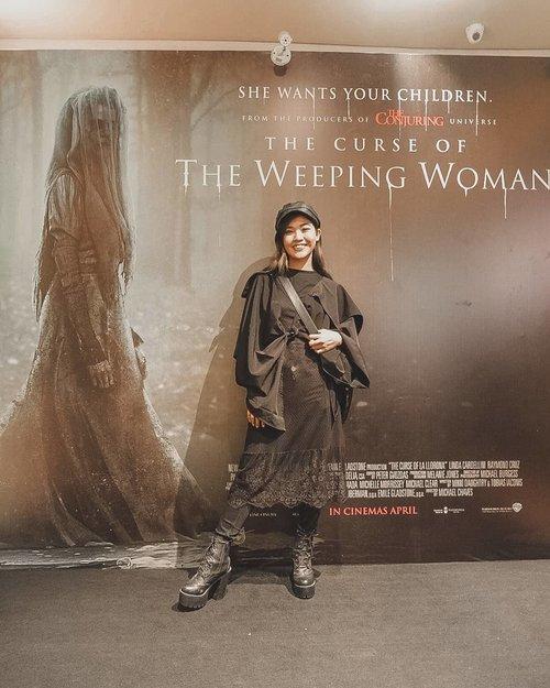 "That was scary!Gilaaaaa, seru banget dan ngagetin terus-terusannnn.... Oh iya goodies dari @clozetteid mendukung banget hahahha . We had so much fun in the theater... Dari teriak-teriak takut sampe cekikikan bareng the other ambassador and star clozette.... Yang mau ngerasain fibe dari movie ini, bisa nyaksiin film The Curse of The Weeping Woman ""La Llorona"" di bioskop terdekat. Film bakal mulai tayang di seluruh bioskop seluruh Indonesia mulai tanggal17 April 2019... Jangan lupa nonton ama temen-temen biar lebih seru teriak teriaknya 🎃😆😜😜 @lalloronamovie #TheWeepingWomanID #ClozetteID"