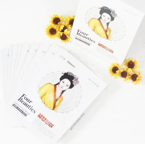 Super recommended mask sheet from @charis_official 💛💛💛 Full feview check my latest post (www.esterherliana.com)If you want to buy click this link : #charisceleb #fourbeauties #masksheet #clozetteid Have a nice day..