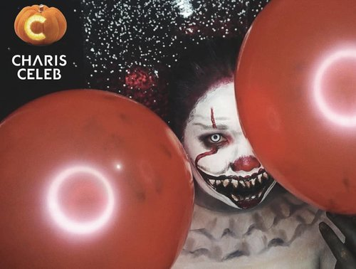 Happy Friday everyone!  Who's ready for halloween event?I'm decided to create pennywise makeup look inspired by IT movie. 👻🎃 I'm joining Charis Hallowen event! I will upload tutorial soon on my youtube channel.#charis #chariscleb #halloweenwithcharis @charis_official