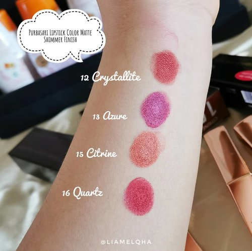 Doyan ga sama lipstick yang punya shimmer finish? Ini matte lipstick @purbasarimakeupid tapi shimmer finish loh. Udh dibikinin mini review di www.liamelqha.com, coba cek di villain makeup post. Linknya di blog. Kali ajah kalian jadi cinta. Hihi~Happy weekend!#journeyaboutmakeup #liamelqhadotcom #clozetteid #beautiesquad @beautiesquad #kbbvmember #kbbvfeatured #jakartabeautyblogger@jakartabeautyblogger #jbbfeatured #BloggerPerempuan #indobeautyblogger @indobeautyblogger #indonesianfemaleblogger @femalebloggersid #batambeautyblogger #liamelqhareview