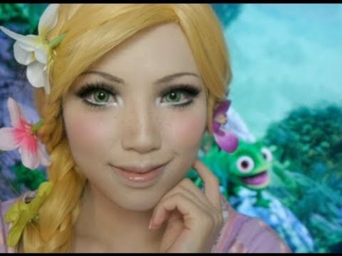 Disney's Tangled Rapunzel Make-up Tutorial( Ft. Flynn and Pascal) - YouTube