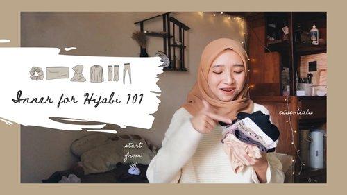 Inner For Hijabi 101: Scrunchie, Inner Hijab, Manset, Legging (Sub English) - YouTube