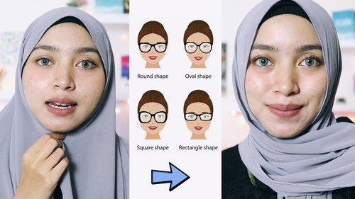 Tips dan Tutorial Hijab Berdasarkan Bentuk Wajah Bulat Tembem Oval Kotak - YouTube