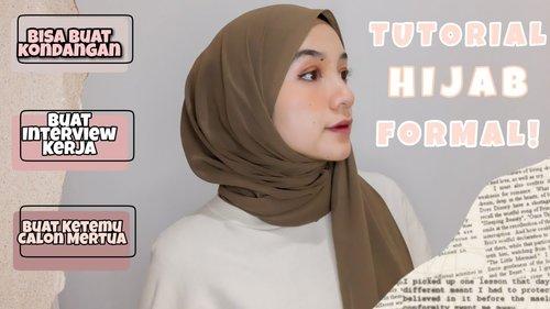 Tutorial Hijab Formal   Yaya Mutiara - YouTube