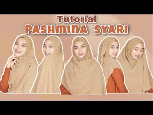 Tutorial Hijab Menutup Dada Wajah Bulat Terbaru Pashmina 2021 - YouTube