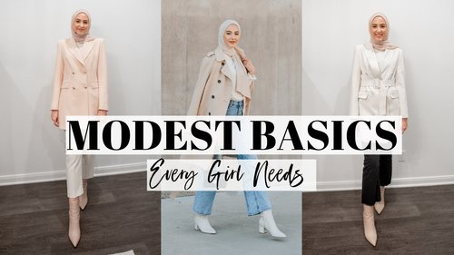 Modest Basic Essentials Every Girl Needs! | Modest Capsule Wardrobe - YouTube