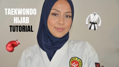HIJAB TUTORIAL: For Sports Taekwondo/Boxing - YouTube