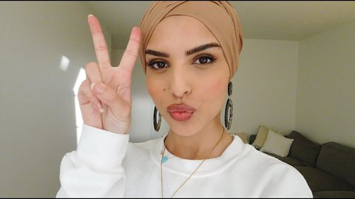 HOW TO : TURBAN HIJAB STYLE WITH EARRINGS - SUPER EASYY!! - YouTube
