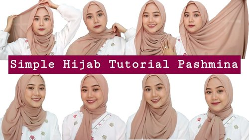 SIMPLE HIJAB TUTORIAL PASHMINA UNTUK WAJAH BULAT | DO'S & DON'TS| TIPS & TRIK MEMAKAI CIPUT - YouTube