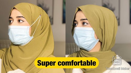 How to Wear Mask With Hijab |Very comfortable | - YouTube