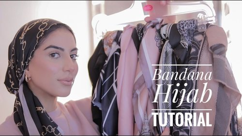 Bandana Hijab Tutorial | 4 Square Silk Hijab styles! - YouTube