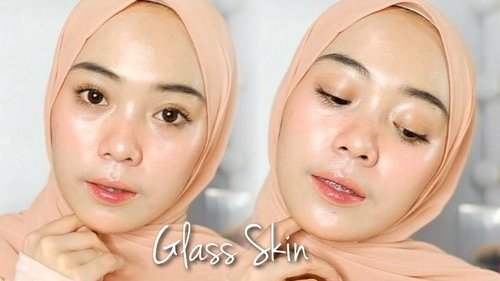 Glass Skin Skincare + Makeup Tutorial | Putri Melati - YouTube