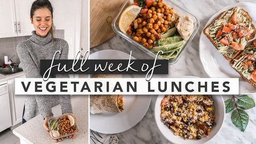 Healthy Vegetarian Lunch Ideas From Monday to Friday | by Erin Elizabeth - YouTube