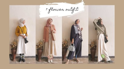 7 outfit inspired by flowers / dressing up like flowers / spring lookbook hijab #ootd #vintage - YouTube