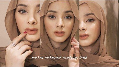 warm caramel - natural makeup look - YouTube
