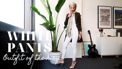 WHITE PANTS OUTFIT | OOTD - YouTube