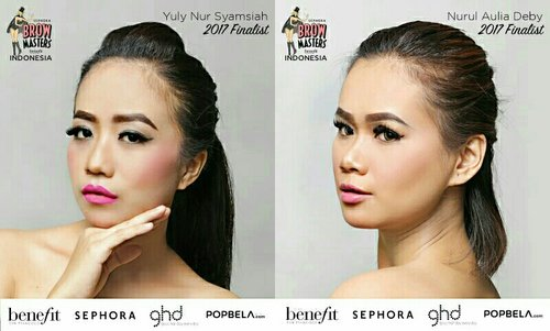 as a mentor, these are my finalist for Sephora Brow Master 2017 😘 @nauliadeby07 & @yuly_johna 😍 let's vote for them by liking and comments on @benefitindonesia IG 👌 . if they win as a favorite winner, @benefitindonesia will pick 3 voters (random pick) for win Benefit Brow Products ❤ so, let's vote!!! Vote starts NOW until 12pm 💕