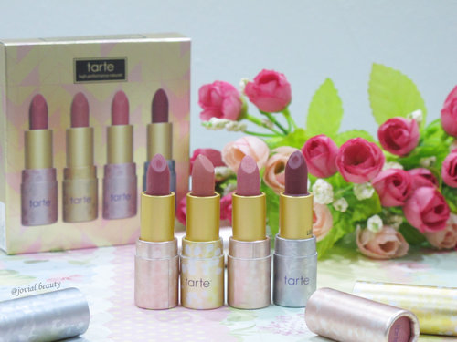 #throwback to my old #blogpost. Totally in love with these #travelsize #Tarte #amazonianbutter #lipsticks