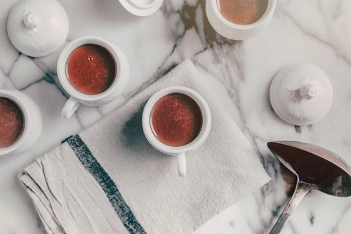 "They said, ""pour tea in a cup"", well I'm like, ""pour cocoa in a cup"". What's the difference?–Those are still good for breakfast and even lunch, so I think there's no difference. Have a cup of joy, will ya? -Happy Monday .......#hotcocoa #chocoincup #mondayvibessonly #mondayfeels #moodboards #cupofjoy #chocolaterush #chocolovers #chocolate #blogstyle #guessmyfavorite #chocolateday #breakfastmood #goodforlunch #creativeforpositive #kinfolklife #kinfolkstyle #clozetteid #theshonet"