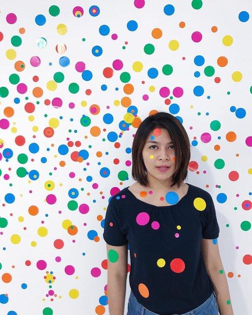 My colorfull weekend ❤️💛💚💙💜💓#museummacan #clozetteid #yayoikusama #weekendvibes #weekendtime #museum #art #colorfull #colorfullife #dots #artworks