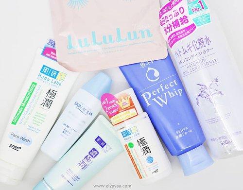 Have you read my latest blog post about my favorite Japanese Skincare? Read the full description of my favorite Japanese skincare in www.elyayaa.com . . . . . . . . . . . #clozetteid #clozetter #slaytheflatlays #japaneseskincare #abcommunity #hadalabo #lululun #skinaqua #hatomugi #flatlay #skincareroutine #skincare