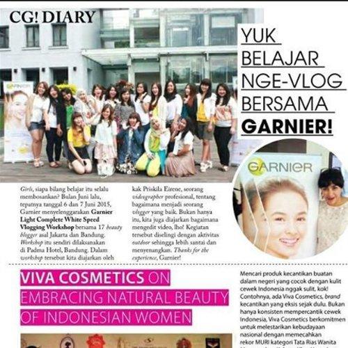 Asek masuk majalah @cosmogirl_ind bareng 19 beauty bloggers lain di acara @garnierindonesia vlogging workshop. Walaupun fotonya seuprit doang 😆😆😆. #garnierretreat #garnier #garnierid #beauty #beautyblogger #bblogger #bbloggers #bloggers #bloggergathering #blogger #bloggerindo #instalike #indonesianbeautyblogger #moment #makeup #makeupjunkie #clozetteambassador #clozetteID #beautyeverywhere #beautyevent