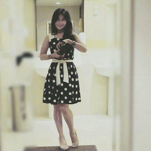 Polka-dot! 😉 #polkadot #ootd #ootdindo #ootdmagazine #fashion #fashionista #girl #dress #heels #lookbookindonesia #instagood #beritafashion #fashiondiaries #Clozetteambassador #clozetteID @clozetteid